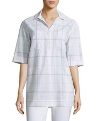 Lafayette 148 New York - Yohanna Cotton Blouse - Lyst