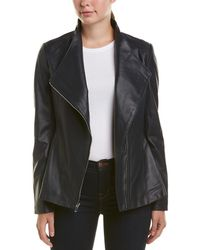 Via Spiga - Leather Motor Jacket - Lyst