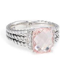David Yurman David Yurman Wheaton Silver 2.83 Ct. Tw. Diamond & Morganite Ring