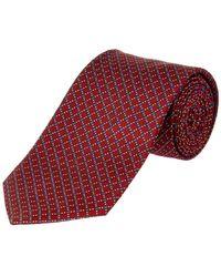 Brooks Brothers - Fancy Burgundy Dot Silk Tie - Lyst