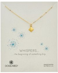 Dogeared - Whispers 14k Over Silver Pyramid Necklace - Lyst