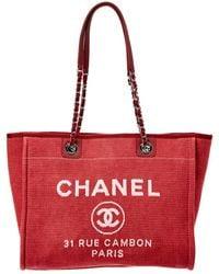 Chanel - Pink Denim Deauville Tote - Lyst