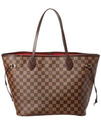 Louis Vuitton - Damier Ebene Canvas Neverfull Mm - Lyst