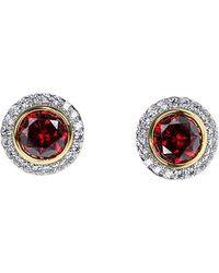 CZ by Kenneth Jay Lane - Plated Studs - Lyst