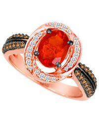 Le Vian - ® 14k Rose Gold 1.03 Ct. Tw. Diamond & Opal Ring - Lyst