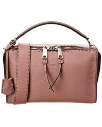 f78e5e78813 Fendi - Lei Selleria Leather Boston Bag - Lyst
