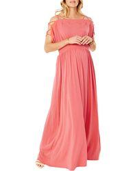 Ingrid & Isabel - Smocked Empire Maxi Dress - Lyst