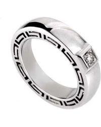 Versace - 18k 0.18 Ct. Tw. Diamond Ring - Lyst