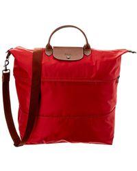Longchamp - Le Pliage Nylon   Leather Travel Bag - Lyst c40e1f488b435