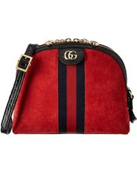 5022a9f412403b Gucci Ophidia Small Suede Shoulder Bag in Black - Lyst