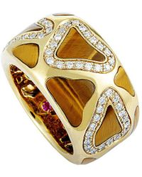 Roberto Coin - 18k 0.42 Ct. Tw. Diamond Tiger's Eye Ring - Lyst