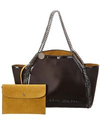 Stella McCartney - Falabella Satin Oversized Tote - Lyst