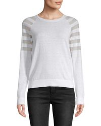 Armani Exchange - Mesh-accented Pullover - Lyst