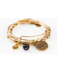 "ALEX AND ANI - Set Of 3 ""let Creativity Rule"" Expandable Bangles - Lyst"
