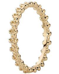 PANDORA - 14k Gold Flower Stack Ring - Lyst