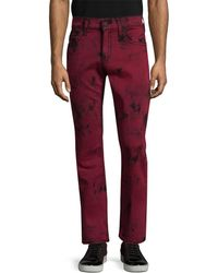 True Religion - Straight Fit Flap Pant - Lyst