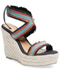 Manebí - Leather Espadrille Wedge Sandal - Lyst