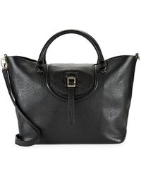meli melo - Meli Melo Halo Pebbled Leather Tote - Lyst