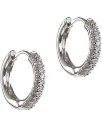 CZ by Kenneth Jay Lane - Plated Huggie Hoops - Lyst
