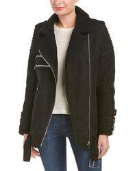 Anine Bing - Shearling Moto Jacket - Lyst
