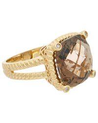 Effy - Fine Jewellery 14k 9.48 Ct. Tw. Diamond & Smoky Quartz Ring - Lyst