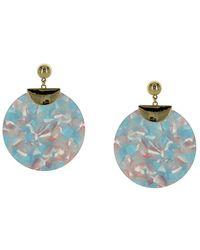Sparkling Sage - 14k Plated Enamel Drop Earrings - Lyst