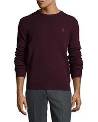 Farah - Farah Rosecroft Knit Sweater - Lyst