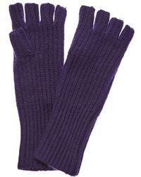 White + Warren - Amethyst Heather Cashmere Fingerless Gloves - Lyst