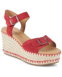 Lucky Brand - Naveah Suede Wedge Espadrilles - Lyst