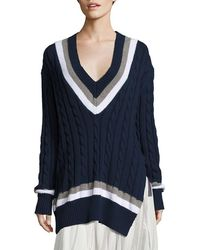 Public School - Cora Cable-knit Sweater - Lyst