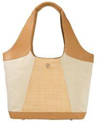 Helen Kaminski - Ulai Raffia & Leather Shoulder Bag - Lyst