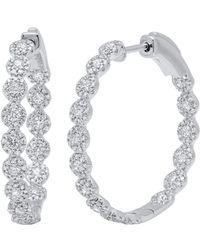 Diana M. Jewels - . Fine Jewelry 14k 2.50 Ct. Tw. Diamond Hoops - Lyst