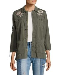 Mother - The Top Brass Fray Zip Jacket - Lyst