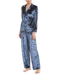 French Connection - 2pc Velvet Pajama Set - Lyst