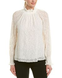 Rebecca Taylor - Embroidered Silk Top - Lyst