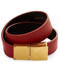 Céline - Classic Double Strap Leather Bracelet - Lyst
