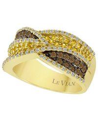 Le Vian - ? 14k 0.93 Ct. Tw. Diamond & Yellow Sapphire Ring - Lyst
