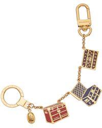 Louis Vuitton - Multicolor & Gold-tone Print Cles Malle Chaine - Lyst