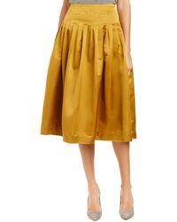 J.Crew | J.crew Silk-blend Midi Skirt | Lyst