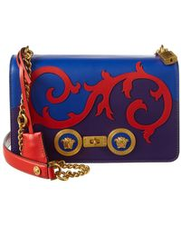 6d014722b070 Lyst - Versace Icon Small Denim Crossbody Bag With Barocco Detail in ...