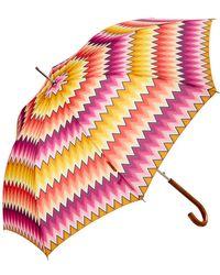 Missoni Valentina Zig Zag Automatic Umbrella - Multicolour