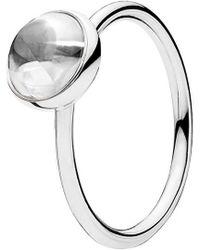 2fc822922 Lyst - PANDORA Poetic Droplet Ring in Metallic - Save 54%