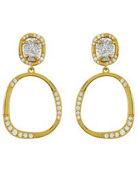 Melinda Maria - 18k Plated Grey Druzy & Cz Earrings - Lyst