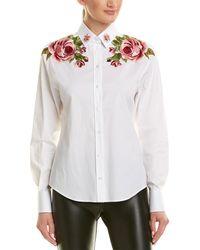 Dolce & Gabbana Floral Embroidered Buttondown Shirt