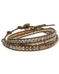 Chan Luu - Silver & Leather Gemstone Bracelet - Lyst