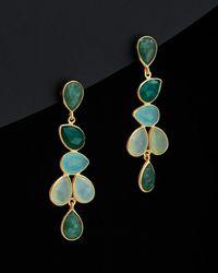 Argento Vivo - 18k Over Silver Gemstone Drop Earrings - Lyst