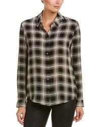 The Kooples - Plaid Silk Shirt - Lyst
