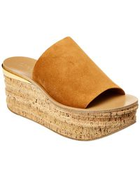 Chloé - Camille Suede Wedge Sandal - Lyst