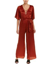 Jealous Tomato - Lace-up Jumpsuit - Lyst