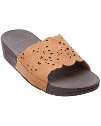 Fitflop - Flora Leather Slide - Lyst